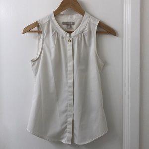 white sleeveless blouse - size xxs (fits like xs)